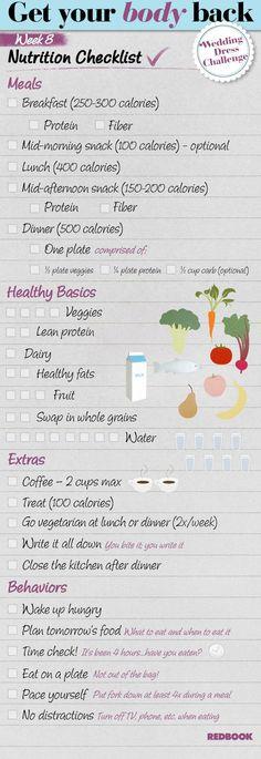 Wedding Dress Challenge Eating Checklist Week 8