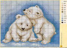 Gallery.ru / Фото #41 - ЗИМНИЕ СЮЖЕТЫ В ВЫШИВКЕ 2 - samara84 polar bear cubs chart