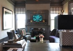 The Makers Mark Retreat by Kelly Hohla, Jeffers Design Group contemporary living room