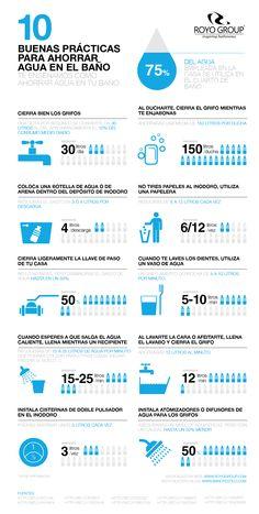 ¿Sabías que alrededor del 75% del agua empleada en la casa se utiliza en el cuarto de baño?  El ahorro de agua está en tus manos y, si sigues estos consejos, además de proteger el medio ambiente, lo notarás también en tu cartera.