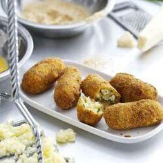 Kartoffelkroketten mit Parmesankäse