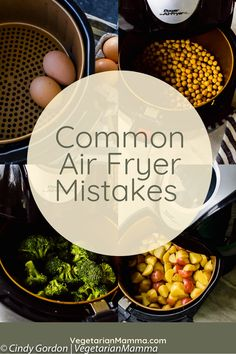 air fryer recipes Common Air Fryer Mistakes - There are air fryer mistakes you could be making. Here are some ways you might be using your air fryer wrong and some delicious air fryer recipes to make things right! Air Fryer Recipes Appetizers, Air Fryer Recipes Vegetarian, Air Fryer Recipes Breakfast, Air Fryer Oven Recipes, Air Frier Recipes, Air Fryer Dinner Recipes, Healthy Chicken Recipes, Easy Recipes, Air Fried Vegetable Recipes