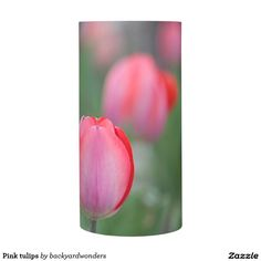 Pink tulips flameless candle
