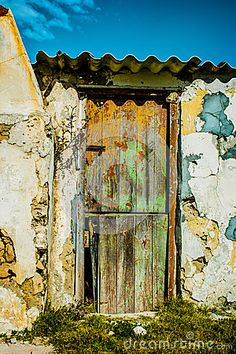 Old Wooden Door And Weathered Stone Walls - Download From Over 24 Million High Quality Stock Photos, Images, Vectors. Sign up for FREE today. Image: 42776628