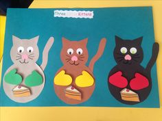 Three Little Kittens- the mittens and pie are magnetic so the children can remove and add them as they are saying the nursery rhyme!