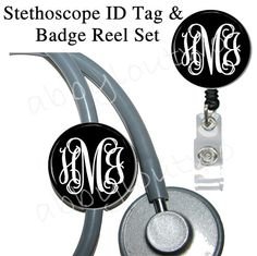 Badge Reel and Stethoscope ID Tag Set Personalized by abbyloutwo, $15.99  @Katie Schmeltzer Mefford pretend you didnt see this and DO NOT buy it for yourself :)