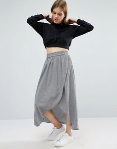 How To Wear The Gingham Ruffle Midi Skirt - The Closet Heroes