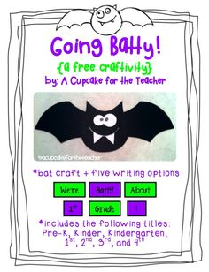 Thank God It's First Grade!: Going Batty! Craftivity
