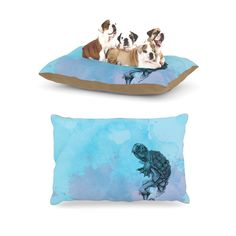 Kess InHouse Graham Curran 'Turtle Tuba II' Dog Bed ** Remarkable product available now. : Pet dog bedding