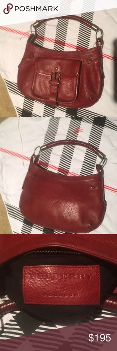 Spotted while shopping on Poshmark  BURBERRY PRORSOM Limited edition  CRANBERRY handbag!  poshmark  fashion  shopping  style  Burberry  Handbags 2367861b24