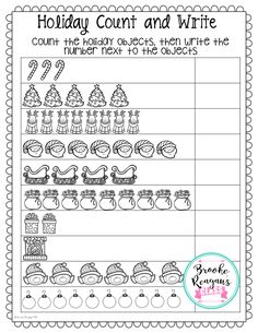 Holiday count and write! Your students will love these fun activities from Holidays in the Special Education Classroom. Full of math, reading and writing activities!