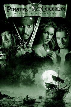 PIRATES OF THE CARIBBEAN - THE CURSE OF THE BLACK PEARL: Een Amerikaanse fantasy/avonturenfilm uit 2003, geregisseerd door Gore Verbinski en geproduceerd en uitgebracht door Walt Disney Pictures. De film speelt zich af in de Caraïben tussen 1730 en 1750. Hoofdrollen worden vertolkt door Johnny Depp, Orlando Bloom, Keira Knightley, Geoffrey Rush en Jack Davenport. De film is gebaseerd op de attractie Pirates of the Caribbean in de Disneyparken.