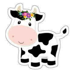 Birthday Party Themes, 2nd Birthday, Ideas Para Fiestas, Cookie Designs, Jenni, Cows, Farm Animals, Cake Toppers, Minnie Mouse