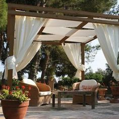 A pergola gives a secluded region and shade in the summertime. A pergola is something which will fall in that category. Then pergola is a superb choice. There's nothing quite like a gorgeous, modern-day pergola in order to add value… Continue Reading → Diy Pergola, Building A Pergola, Pergola Curtains, Outdoor Pergola, Pergola Lighting, Wooden Pergola, Pergola Shade, Outdoor Decor, Retractable Pergola