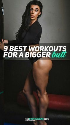 Check out these 9 Best Workouts For A Bigger Butt - The Big Booty Workout. The workouts/exercises can be done anywhere and are picked by Zhaklina Velcheva based on their effect on making those glutes pop.