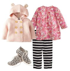 Baby Girl Black, White, and Pink AccordingToNina.com