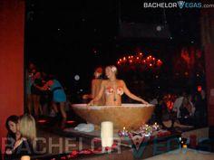 TAO nightclub Las Vegas, gogo dancers inside a bathtub
