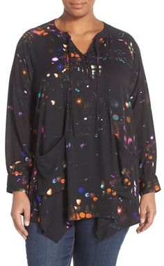 melissa mccarthy seven7 plus bow tie blouse ($89) ❤ liked on