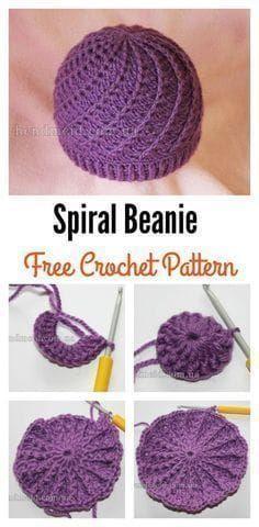 66ec3fa8623 Slouchy Spiral Beanie Free Crochet Pattern Free Crochet
