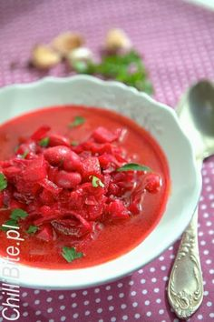 ChilliBite.pl -Wyśmienity barszcz ukraiński Fruit Recipes, Soup Recipes, Cooking Recipes, Healthy Recipes, Soup For The Soul, Borscht, Good Food, Yummy Food, Polish Recipes