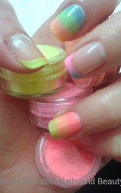 Pigment nail art