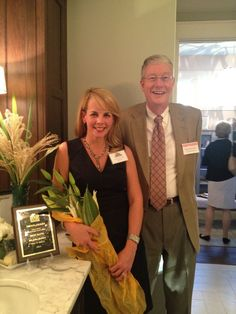 Jill Erwin of Just Jill Erwin Interiors and David Hendrick of Custom Kitchens in Designer House Master Bath with Bel Arbor Builders Parade of Homes plaque for best Master Bath!  What a big win!  Monday, 10/13/14 is last day to get to see this gorgeous master bathroom!