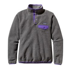 Patagonia Women's Synchilla® Lightweight Snap-T® Fleece Pullover - Nickel w/Violetti (NKVT-732)
