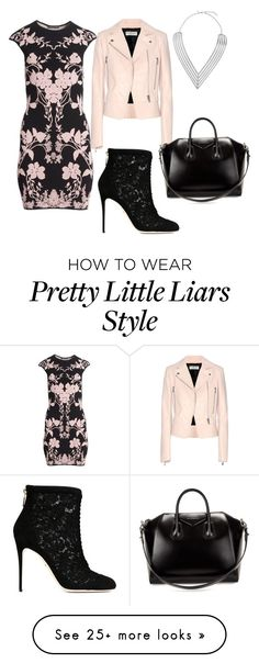 """""""Pretty little liars Hannah"""" by brooklynn-juedeman on Polyvore featuring Alexander McQueen, Balenciaga, Dolce&Gabbana, Givenchy, Topshop, women's clothing, women, female, woman and misses"""
