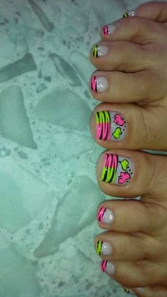 Colores Shellac Nail Designs, Cute Acrylic Nail Designs, Pedicure Designs, Pedicure Nail Art, Toe Nail Designs, Manicure, Sexy Nail Art, Sexy Nails, Pretty Toe Nails