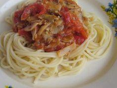 Spaghetti cu ciuperci si sos de rosii picant - de post - imagine 1 mare