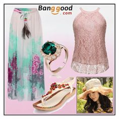 """Banggood-8"" by dzemila-c ❤ liked on Polyvore featuring Italina and BangGood"