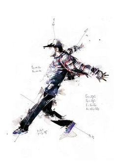 """""""Break Dance - Volnorez"""" : Danseurs Hip Hop par Florian Nicolle - Illustration géométrique - Paperblog"""