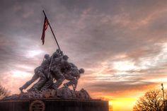 US Marine Corps War Memorial in Arlington VA