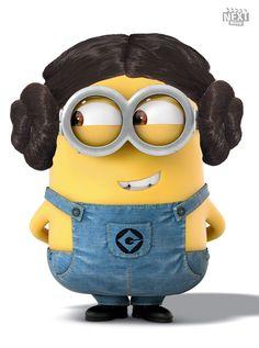 Carrie Fisher Minion #DespicableMe http://www.nextmovie.com/blog/despicable-me-2-minions/
