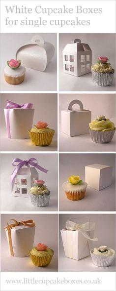 white single cupcake boxes  http://www.littlecupcakeboxes.co.uk/cupcakeboxes/single-cupcake-boxes.html  #cupcake-boxes