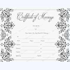Golden Thrill Traditional Design For Marriage Certificate