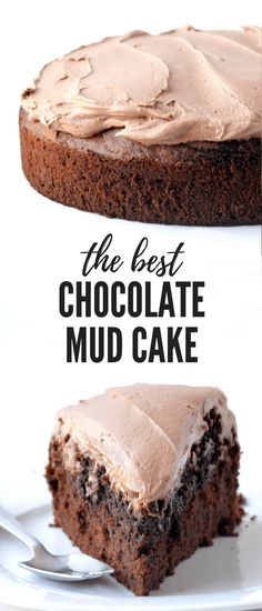 Hands down the BEST Chocolate Mud Cake I've ever had! With a fudgy centre and a creamy milk chocolate frosting, it's the best cake for birthdays or celebrations.  | Posted By: DebbieNet.com