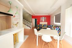 Fun Office in Jakarta with vibrant colors. Design by our team. UTKAST DESIGN