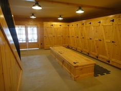 Great tack room for a boarding barn!