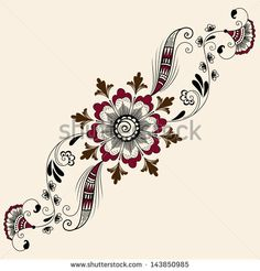 Find Vector Abstract Floral Elements Indian Mehndi stock images in HD and millions of other royalty-free stock photos, illustrations and vectors in the Shutterstock collection. Henna Tattoo Hand, Henna Tattoo Designs, Henna Art, Mehndi Designs, Estilo Mehndi, Zentangle Drawings, Zentangle Patterns, Art Drawings, Zentangles