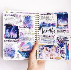 galaxy bullet journal page