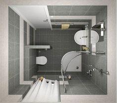 маленькая ванная комната фото 25