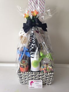 GORGEOUS GIFT BASKETS by --- pinkshark.ca Holiday Gift Baskets, Wine Gift Baskets, Holiday Gifts, Baby Shower Gift Basket, Baby Shower Gifts, Baby Gifts, Coffee Baskets, Golf Drawing, Real Estate Gifts
