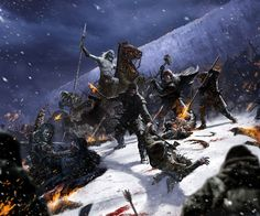 According to legends, in the midst of this darkness a race of apparent demons, called the Others, emerged from the uttermost north, the polar regions of the Lands of Always Winter. They wielded razor-thin swords of ice and raised wights to fight the living. The children of the forest and their allies, the First Men, fought valiantly against them, but were driven southwards by their advance.