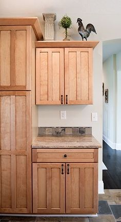 The Darby Lakes Kitchen | The Creative Kitchen Co. Maple shaker style cabinets