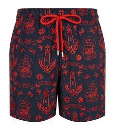 f1fa68852cd5c VILEBREQUIN Embroidered Mistral Tattoo Swim Shorts. #vilebrequin #cloth #  Vintage Swim, Gym