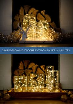 DIY lighted cloches and vases you can make in minutes.