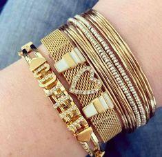 Keep Jewelry, Bangles, Bracelets, Gold, Fashion, Moda, Fashion Styles, Bracelet, Fashion Illustrations