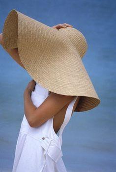 Big beach hat