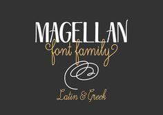 Magellan font family by Anastasia Dimitriadi on @creativemarket